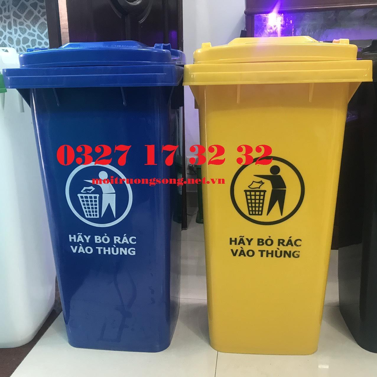 Thùng rác công nghiệp 240L nhựa HDPE