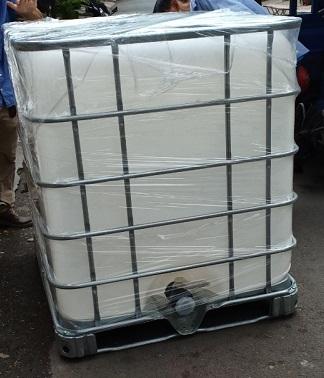 Thùng nhựa khung thép 1000 lít qua sử dụng mới 92% MKC
