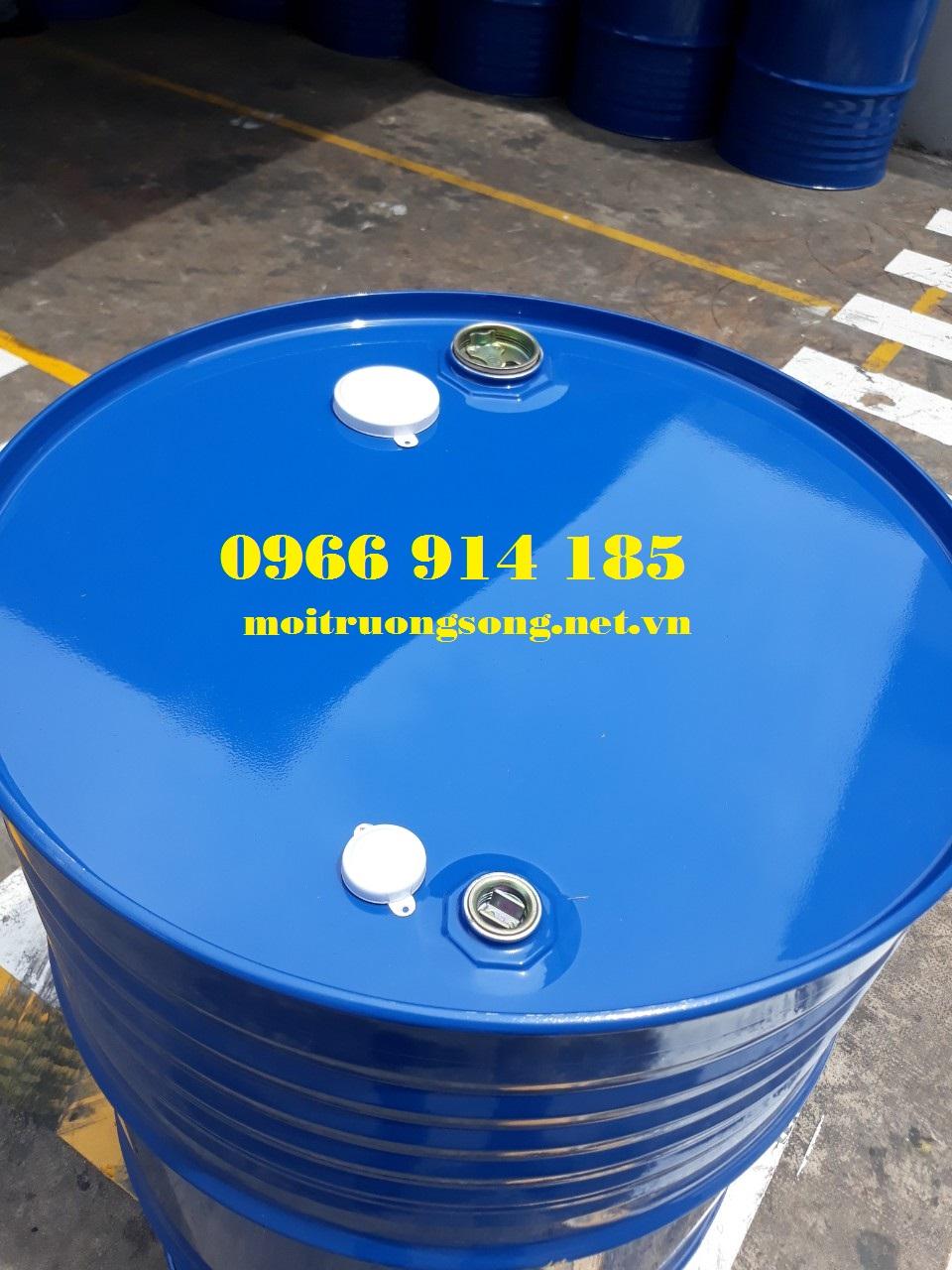 Thùng phuy sắt 220L kín 2 nắp nhỏ chuyên đựng hóa chất MKC
