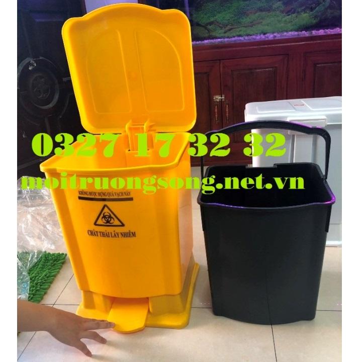 Thùng rác y tế 20l các loại màu có logo giá tại kho