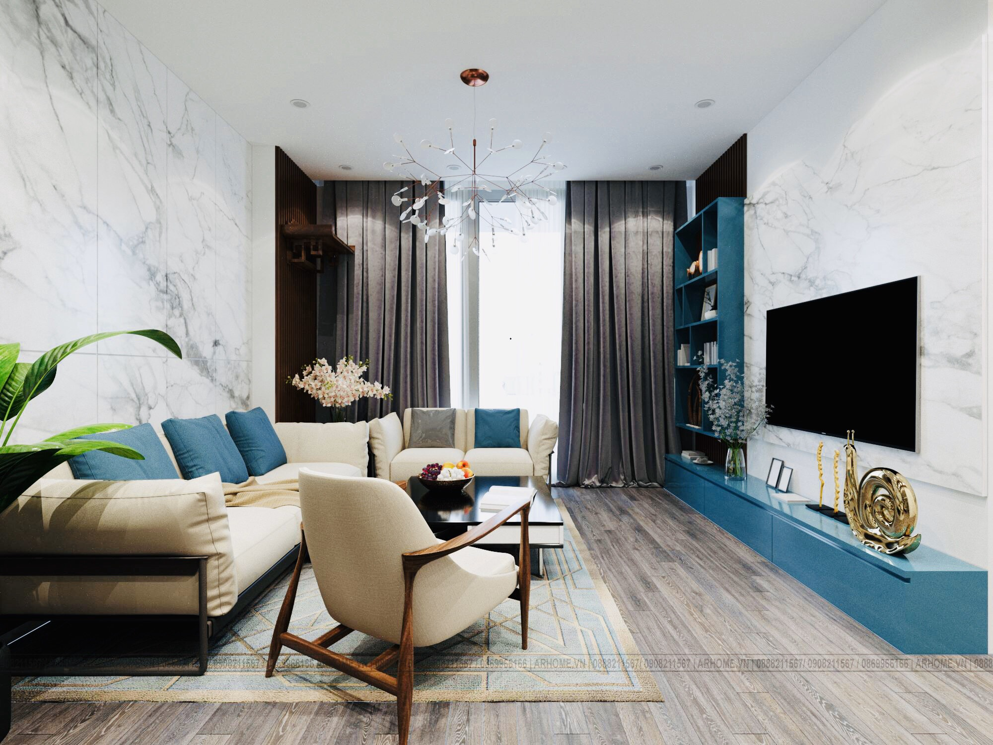 Báo giá thi công nội thất trọn gói căn 3 phòng ngủ Iris Garden