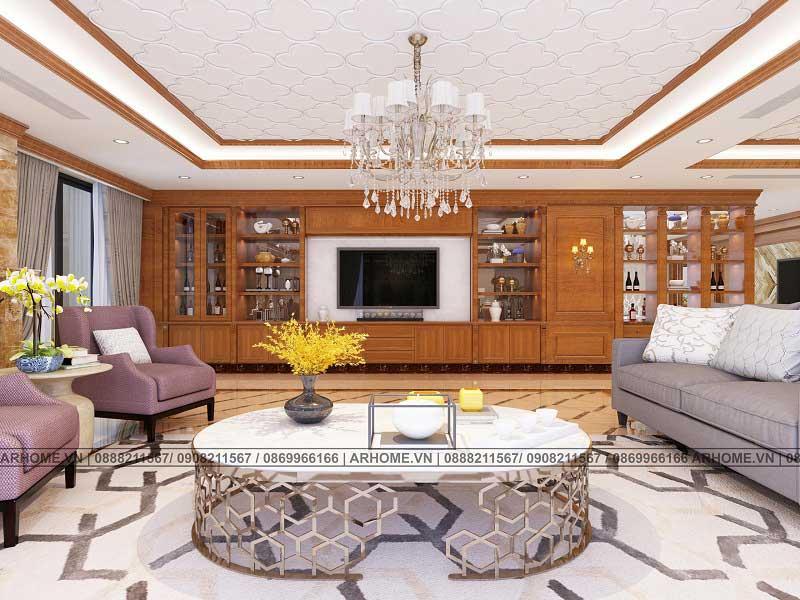 Mẫu thiết kế nội thất căn hộ Penthouse mang phong cách tân cổ điển