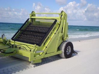 Xe cào rác bãi biển