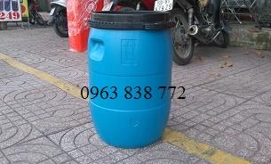 Thùng phi nhựa 50 lít đựng nước- bột- thực phẩm