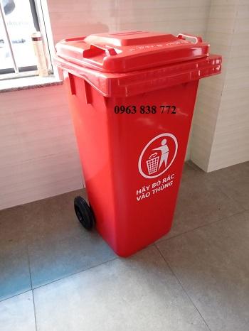 Thùng rác nhựa HDPE 120 lít màu xanh lá
