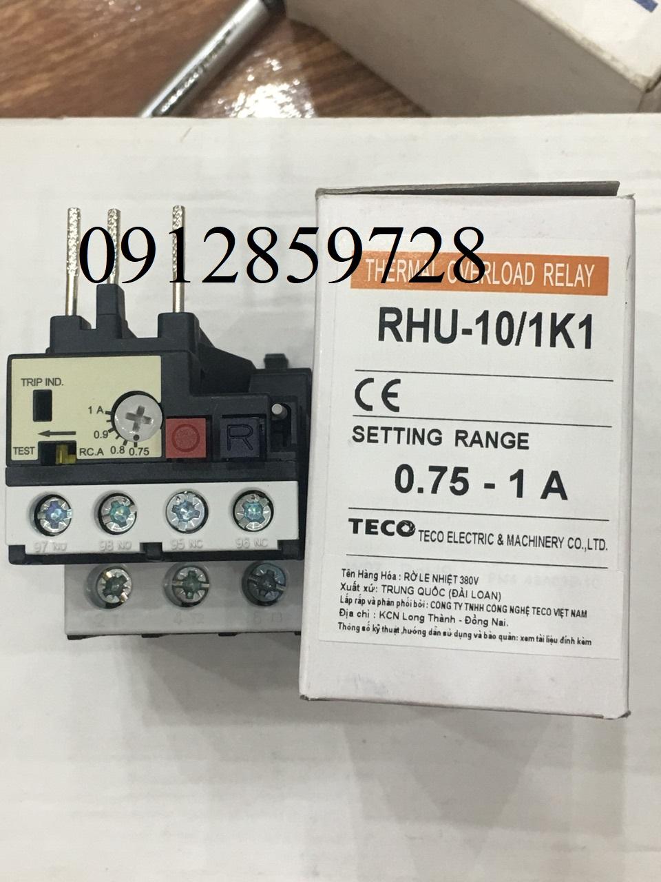 Rơ le nhiệt Teco RHU-10/1K1, xuất xứ Đài Loan