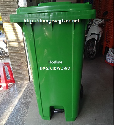Thùng rác nhựa 240L có đạp chân