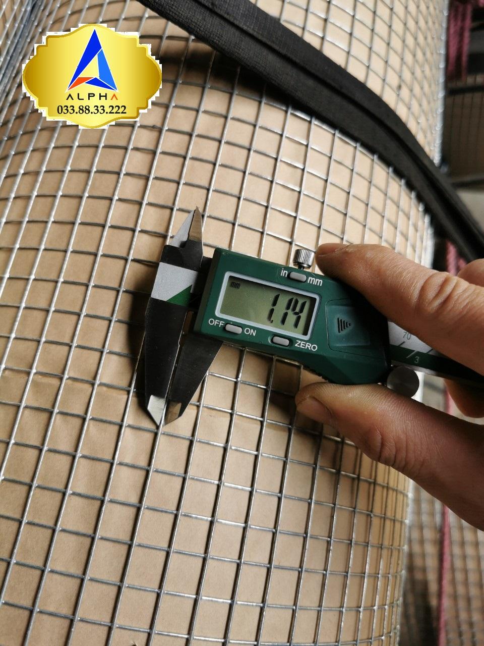 Lưới thép hàn mạ kẽm mắt 10mm dày 1.2 ly