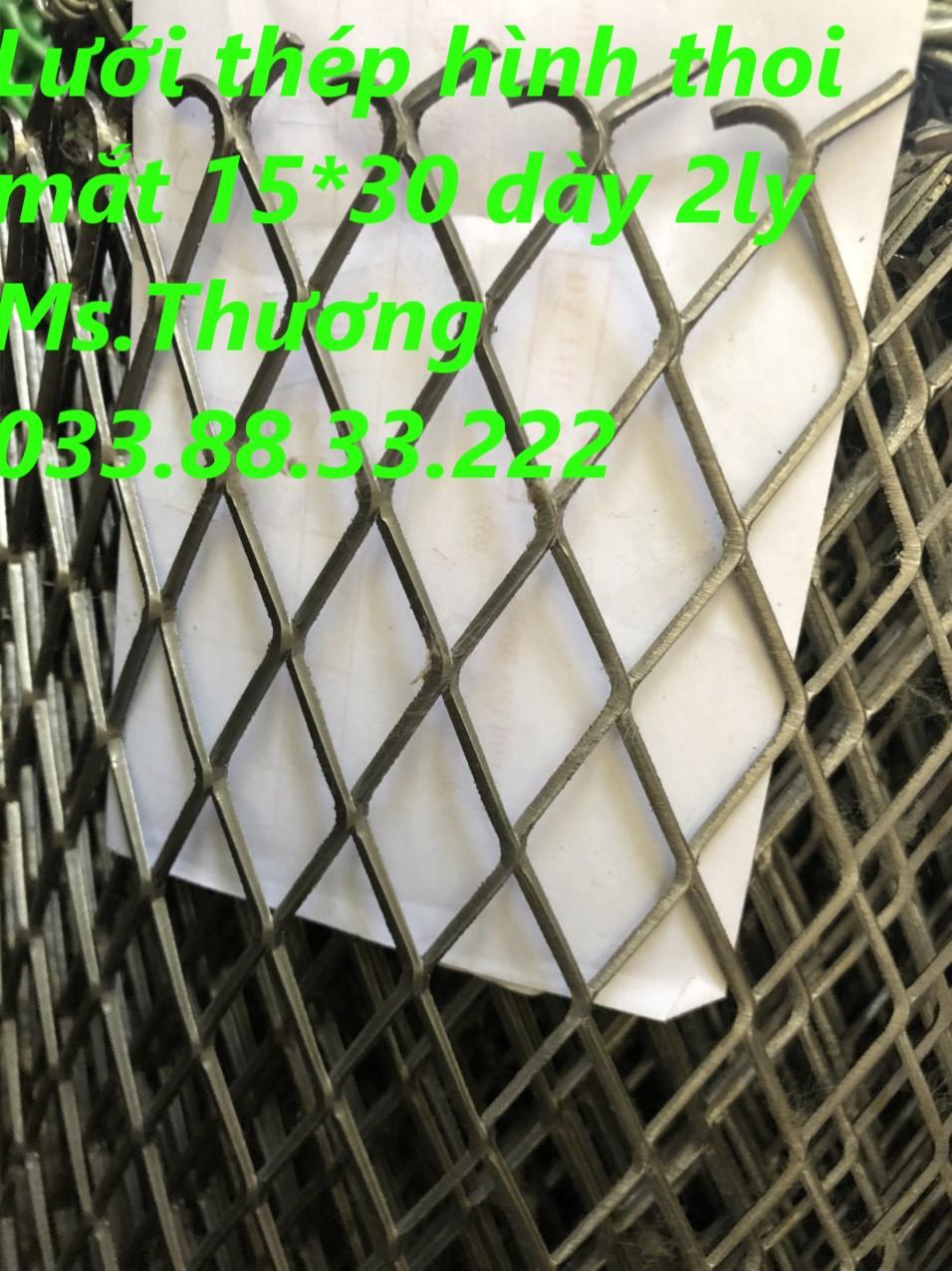 Lưới hình thoi A15x30mm dây 1.5 ly khổ 1m