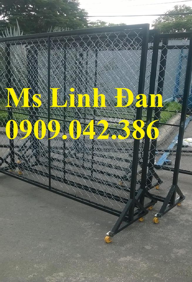 Lưới thép hàng rào di động có bánh xe