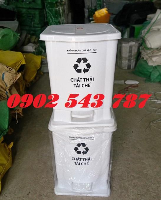 Thùng rác đạp chân y tế 25 lít