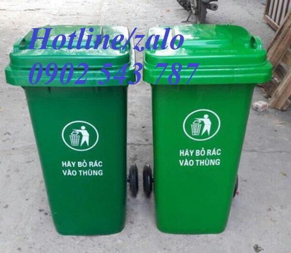 Thùng rác công cộng ngoài trời 120 lít