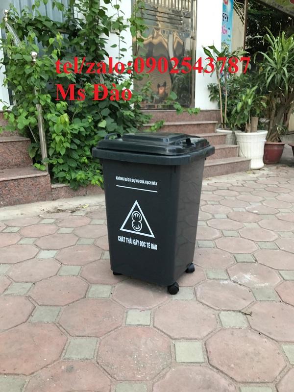 Thùng rác 60 lít đạp chân