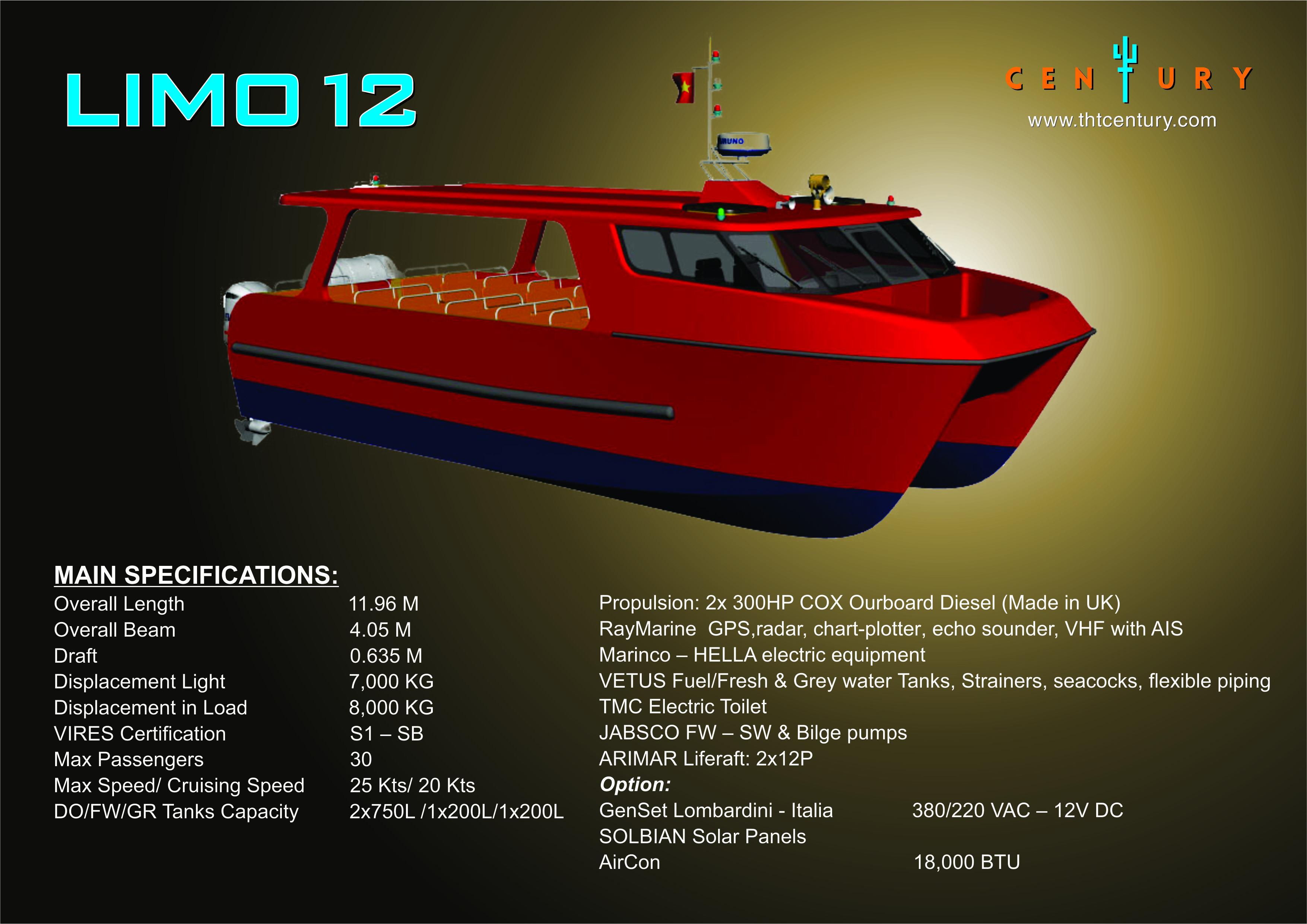 Xuồng chở khách LIMO 12 (CEMA ASV 1100)