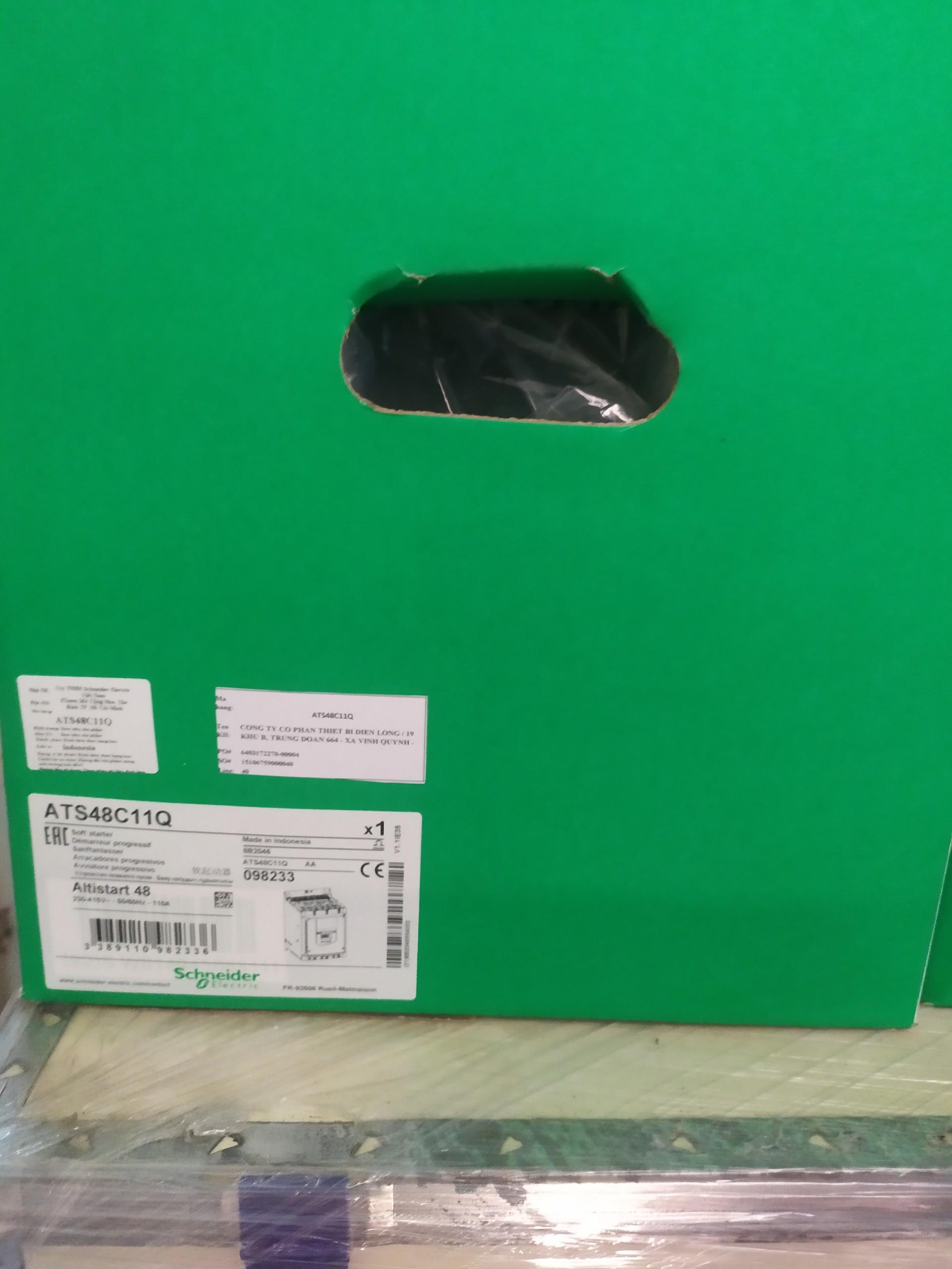 Khởi động mềm ATS48 Schneider Idm= 110A, công suất 45/ 55kW, nguồn cấp 400V