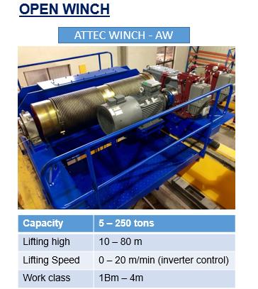 Tời nâng hạng nặng - ATTEC WINCH - AW