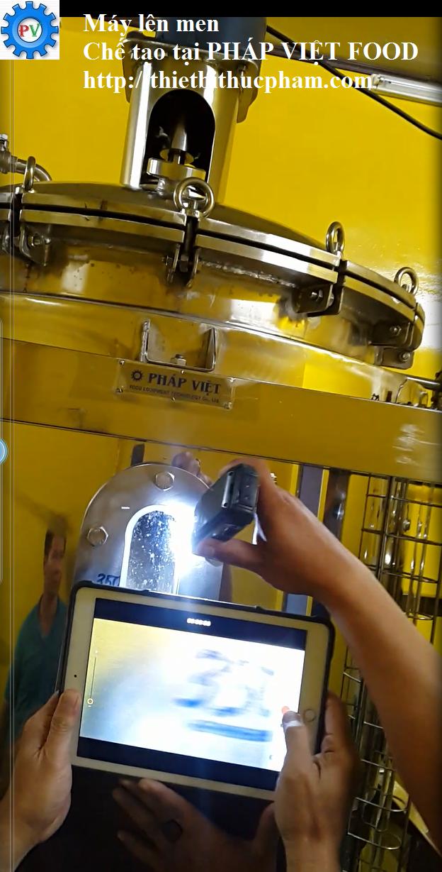 Máy lên men hiếu khí hiện đại Pháp Việt