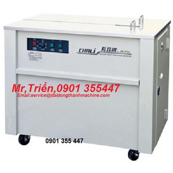 Máy đai niềng thùng chính hãng Wellpack Chali JN-740 hàng có sẵn giá rẻ