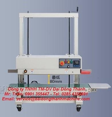 Máy hàn miệng túi băng tải liên tục có in date model WP-1100V