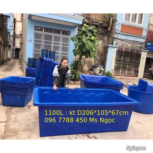 Thùng nhựa 1100 lít nuôi cá cảnh