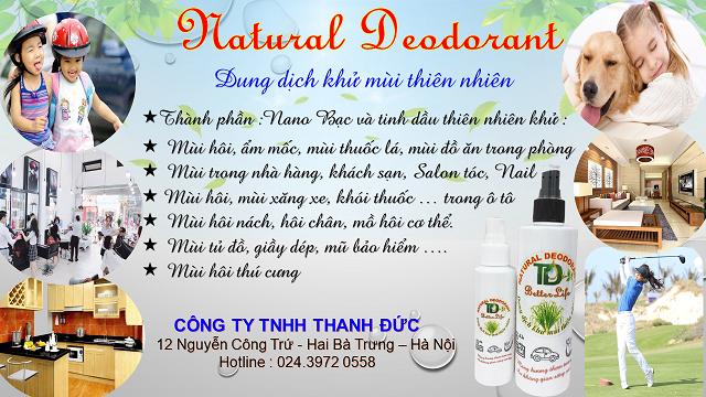 Dung dịch khử mùi thiên nhiên Natural Deodorant (100 ml) 8938535982008