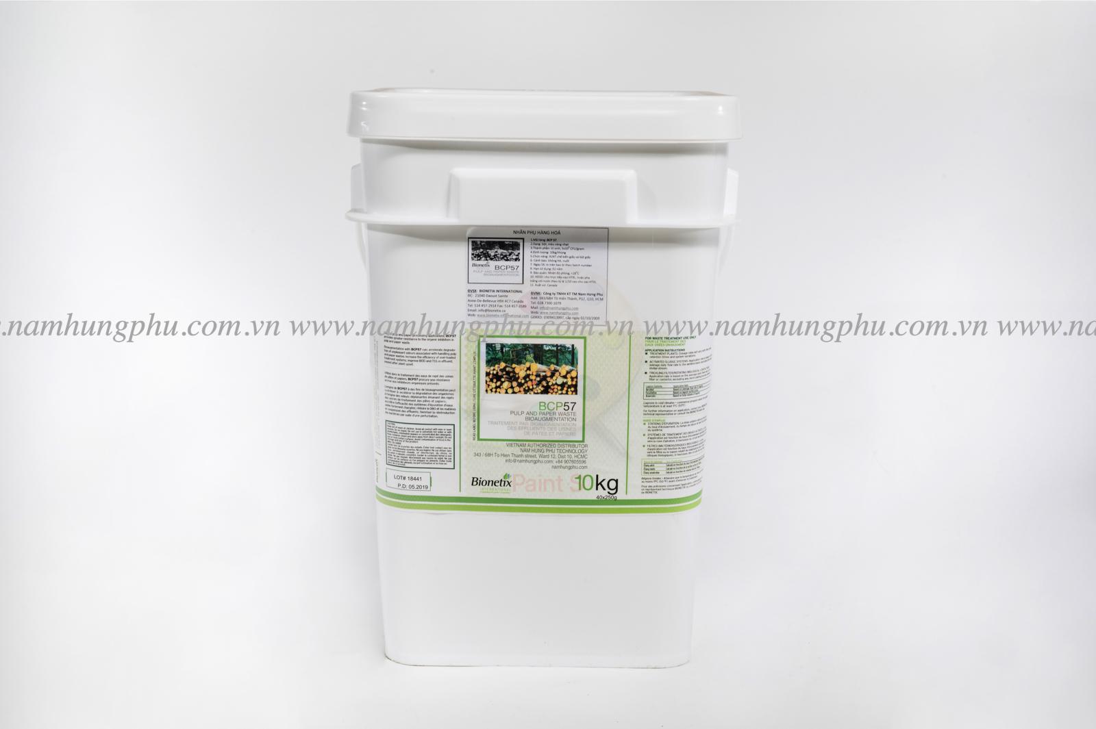 Chế phẩm vi sinh xử lý nước thải công nghiệp ngành giấy BCP57