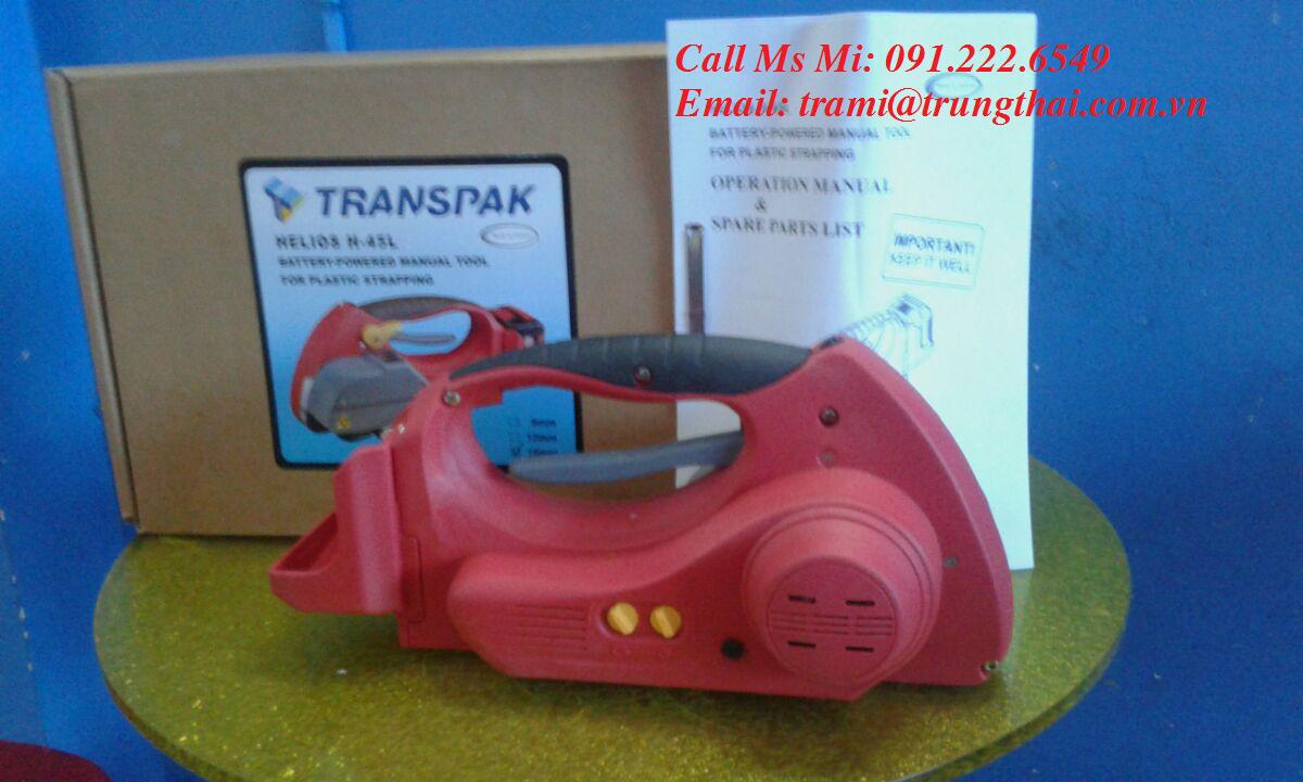Máy đóng đai nhựa dùng pin hàn nhiệt dây TRANSPAK H45L
