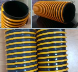 Ống nhựa PVC gân màu vàng cam
