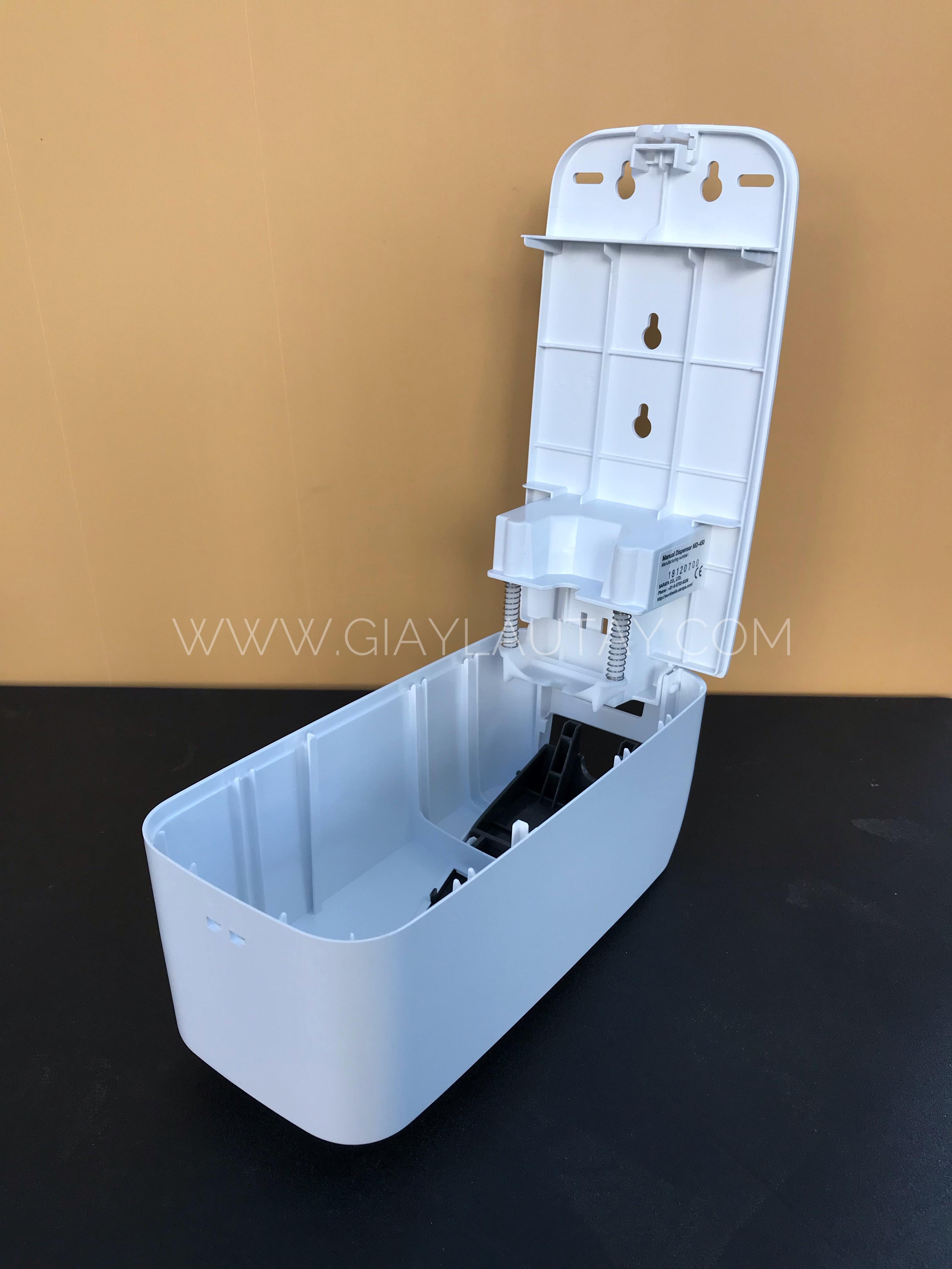 Bình đựng nước rửa tay/ cồn sát khuẩn nút nhấn cao cấp hãng Saraya mã MD-450