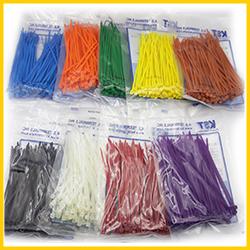 Dây rút nhựa 9 màu đánh dấu, đóng gói 100 sợi, nhiều kích cỡ