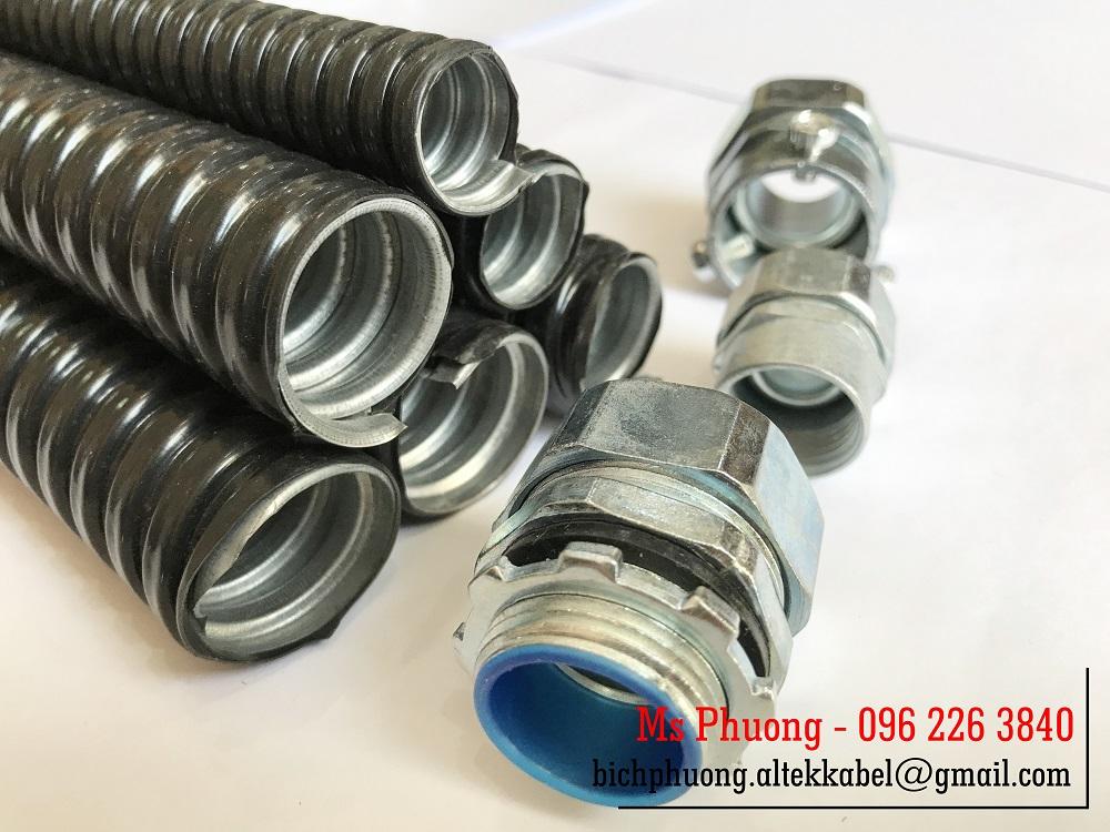 Ống ruột gà lõi thép, ống sun sắt bọc nhựa PVC