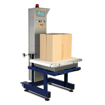 Cân kiểm tra khối lượng sản phẩm đóng thùng