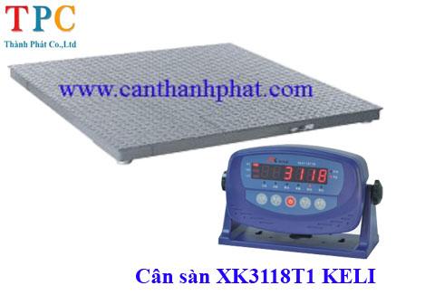 Cân sàn, cân động vật 2 tấn Keli XK3118T1