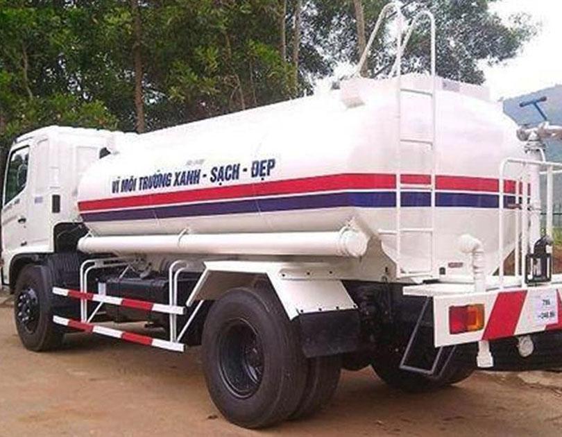 Xe téc phun nước rửa đường DONGFENG 9 khối