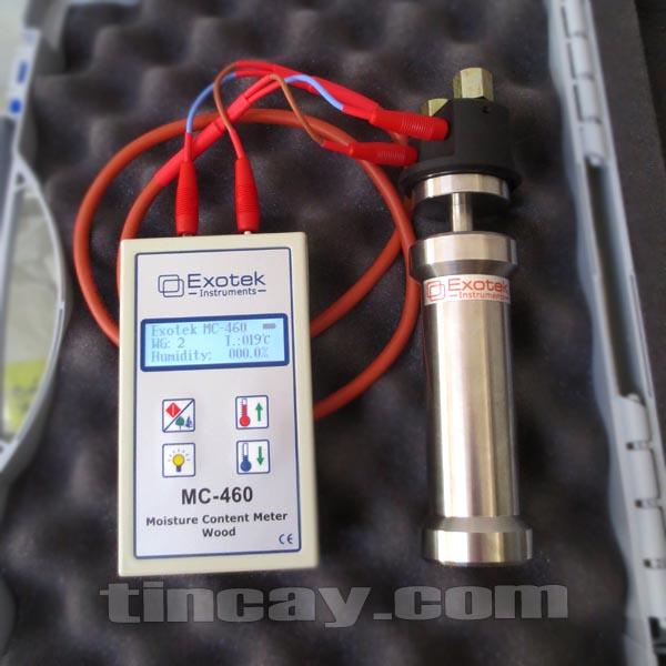 Máy đo độ ẩm gỗ, gỗ dăm và mùn cưa Exotek MC-460/S-10P