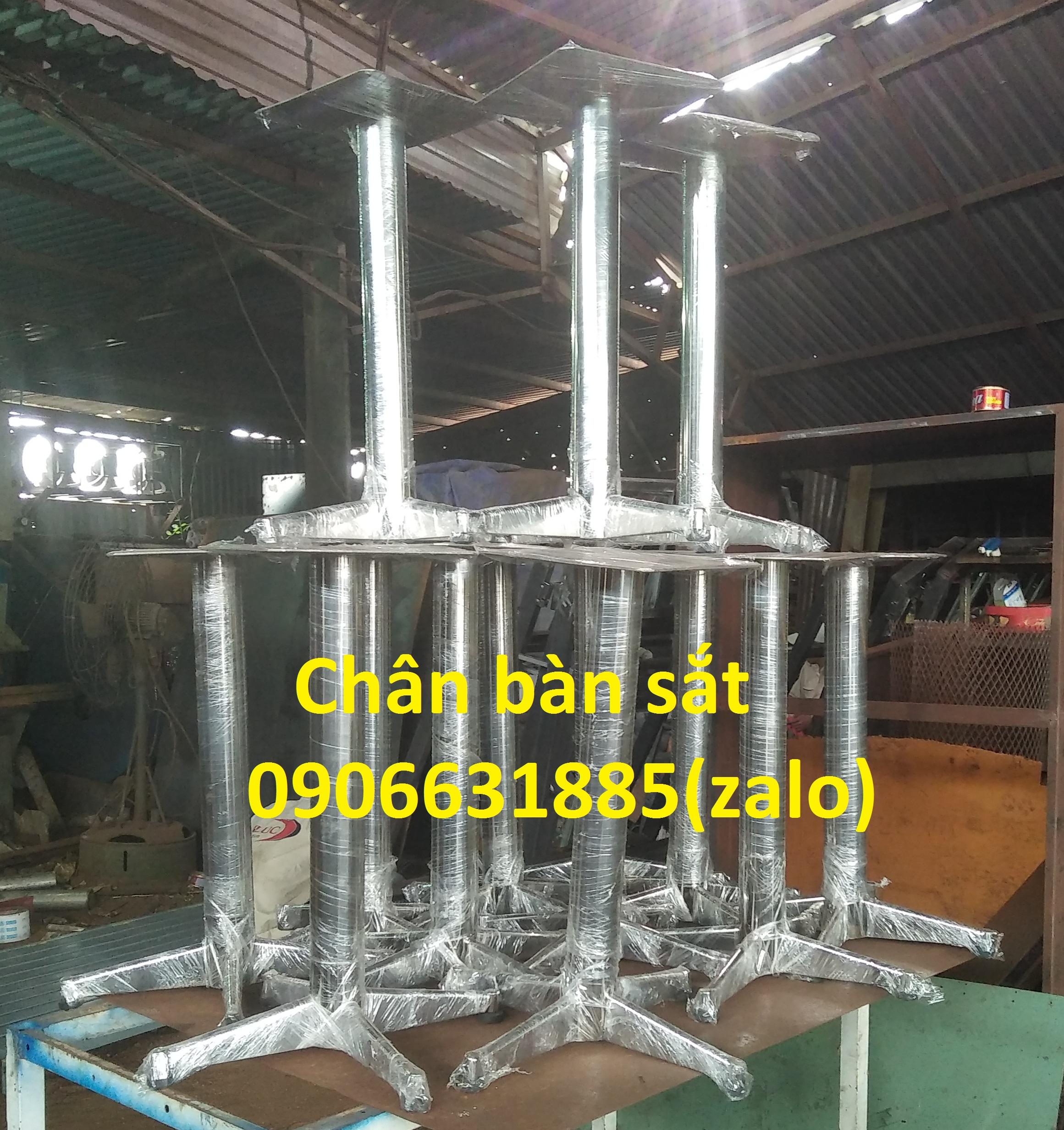 Nhận sản xuất chân bàn sắt, inox , chân bàn cafe