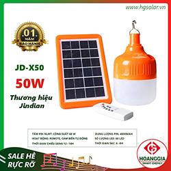 Đèn led bulb năng lượng mặt trời X50 50W