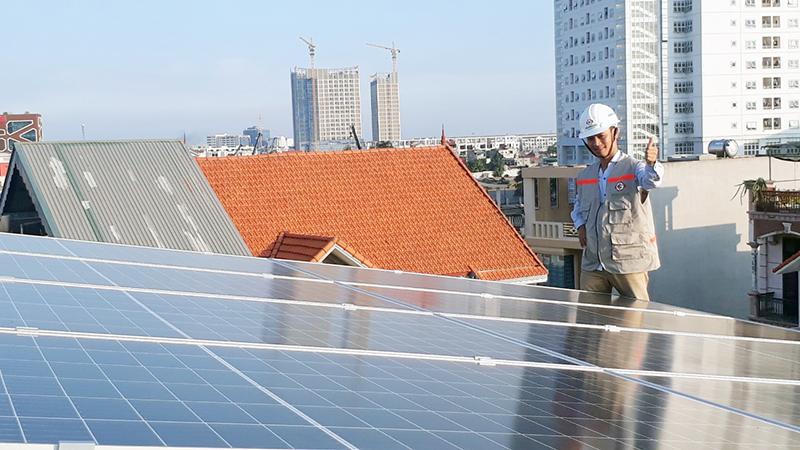 Thi công lắp đặt điện năng lượng mặt trời tại Hải Phòng