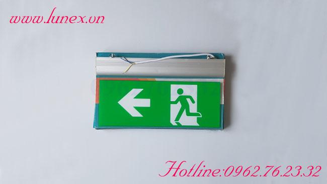 Đèn exit kính trong có chỉ hướng Lilang