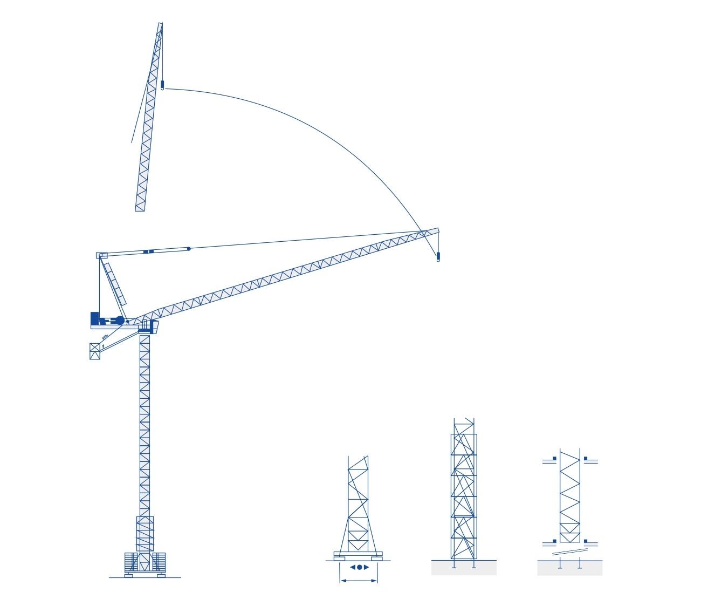 Cần cẩu tháp Luffing-Jib-QD5523