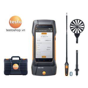 Bộ Testo 400 đo lưu lượng không khí với đầu dò cánh quạt 16 mm