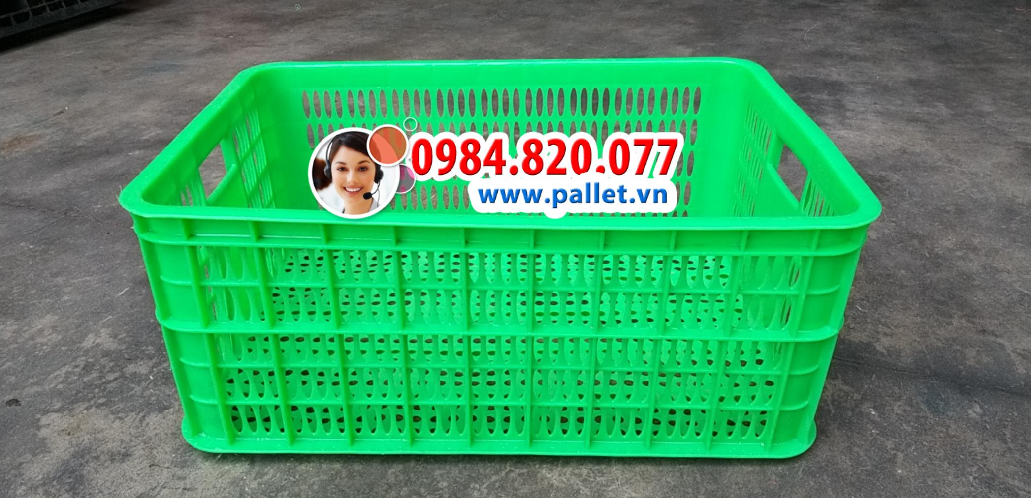 Rổ nhựa hở 2 tấc 5 giá rẻ - Thùng nhựa Việt Nhật