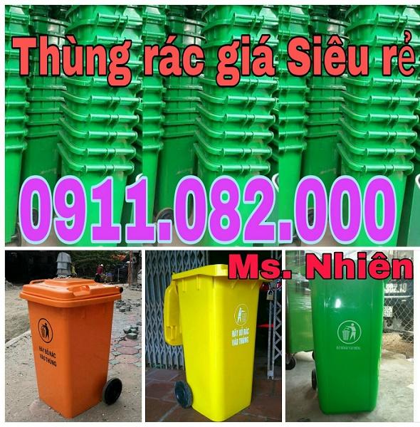 Nơi bán thùng rác giá rẻ tại Bình Thuận- thùng rác nhựa, thùng rác 120 lít 240 lít
