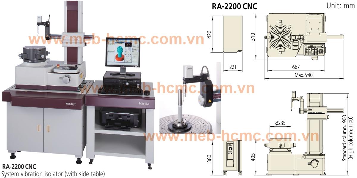 Máy đo độ tròn, độ trụ dạng CNC Mitutoyo model RA-2200CNC