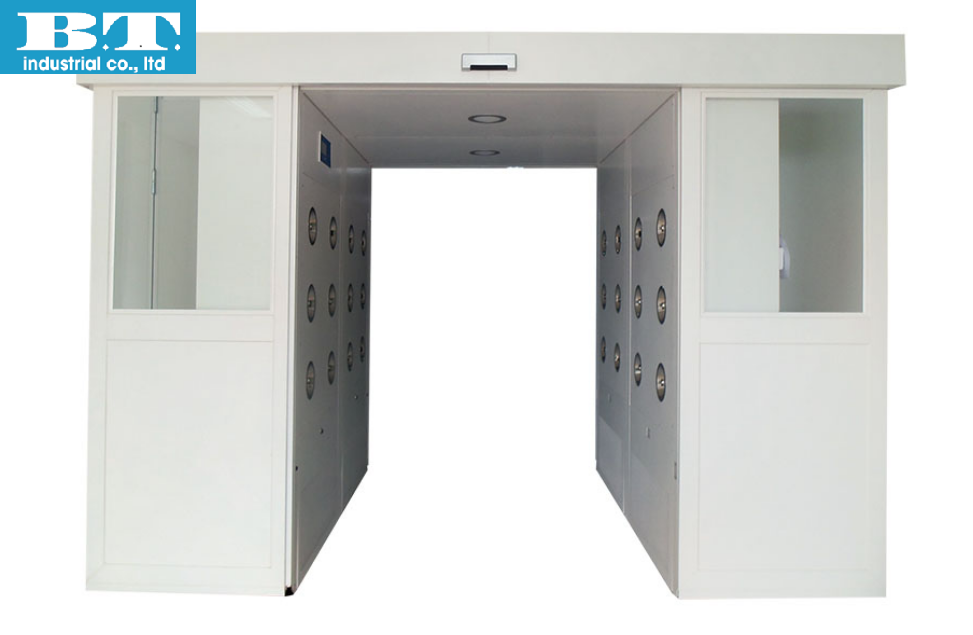 Cửa trượt tự động phòng sạch -Automatic Roller Door - Sliding Door Cargo Air Shower Room