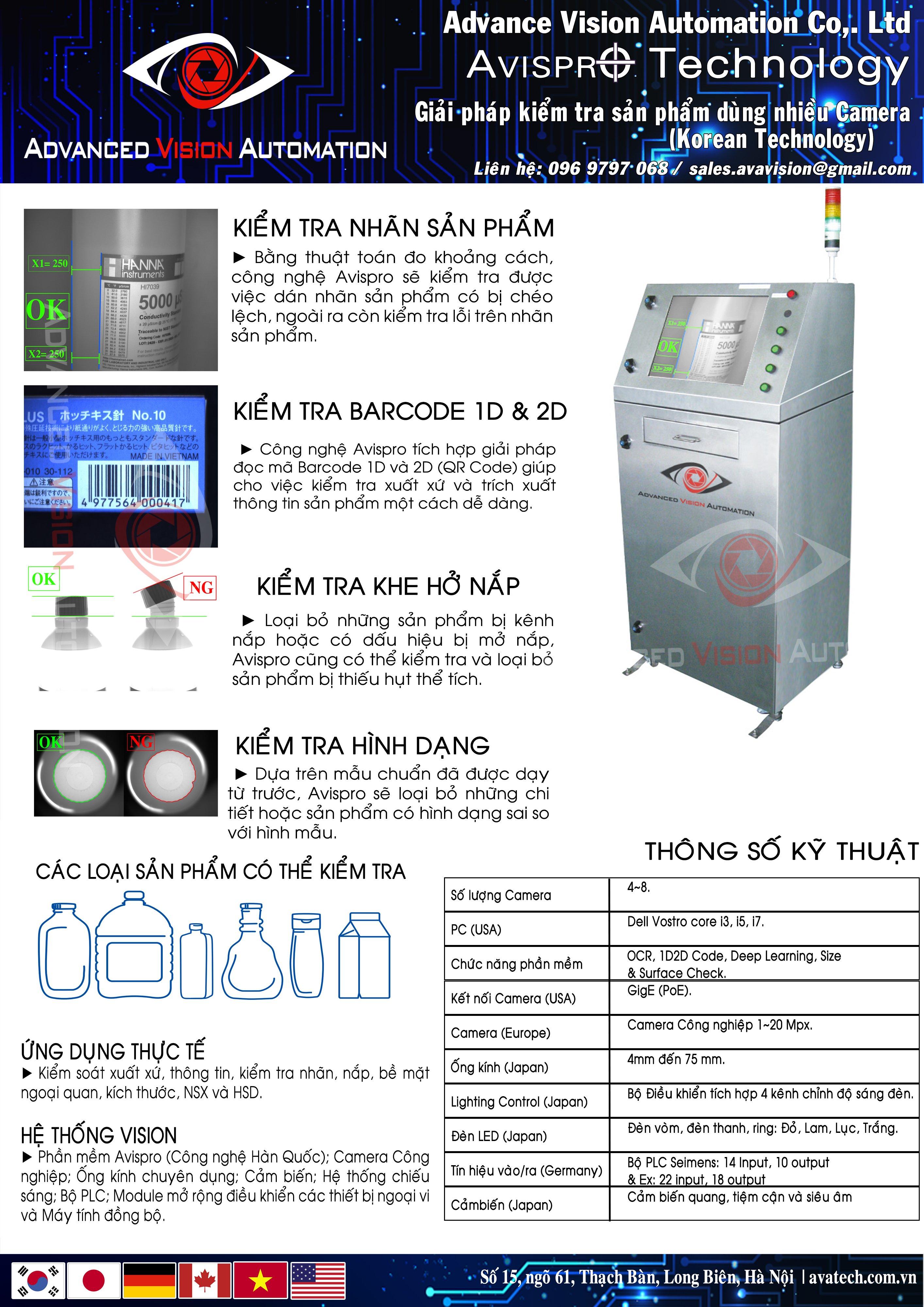 Hệ thống kiểm tra sản phẩm trong đóng gói VD2000