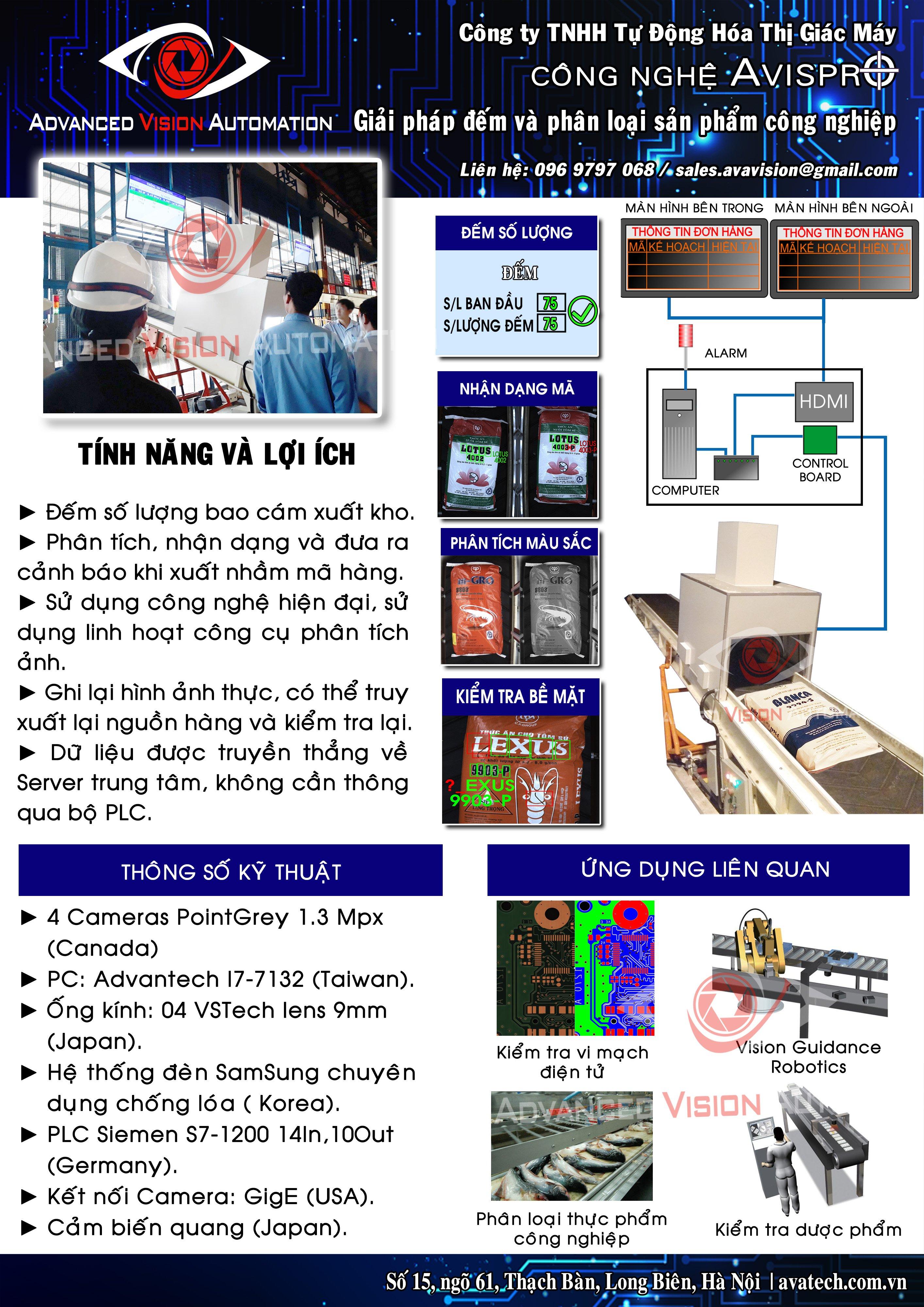 Hệ thống đếm và nhận dạng sản phẩm trên băng chuyền VD3000