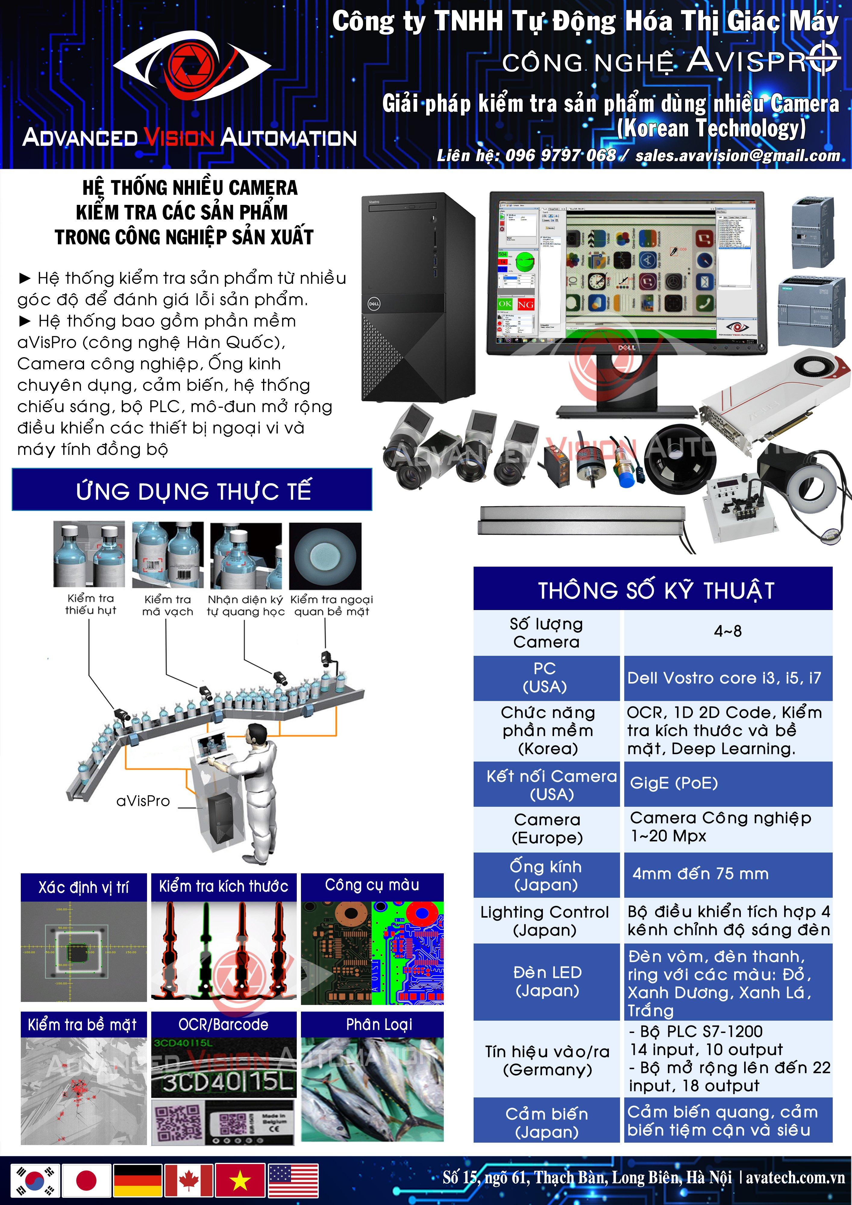 Hệ thống kiểm tra nhiều camera VD4000