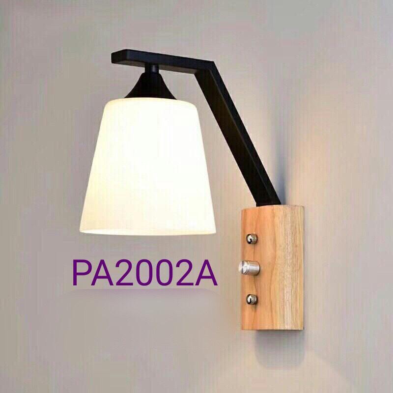 Đèn ngủ gắn tường đế gỗ