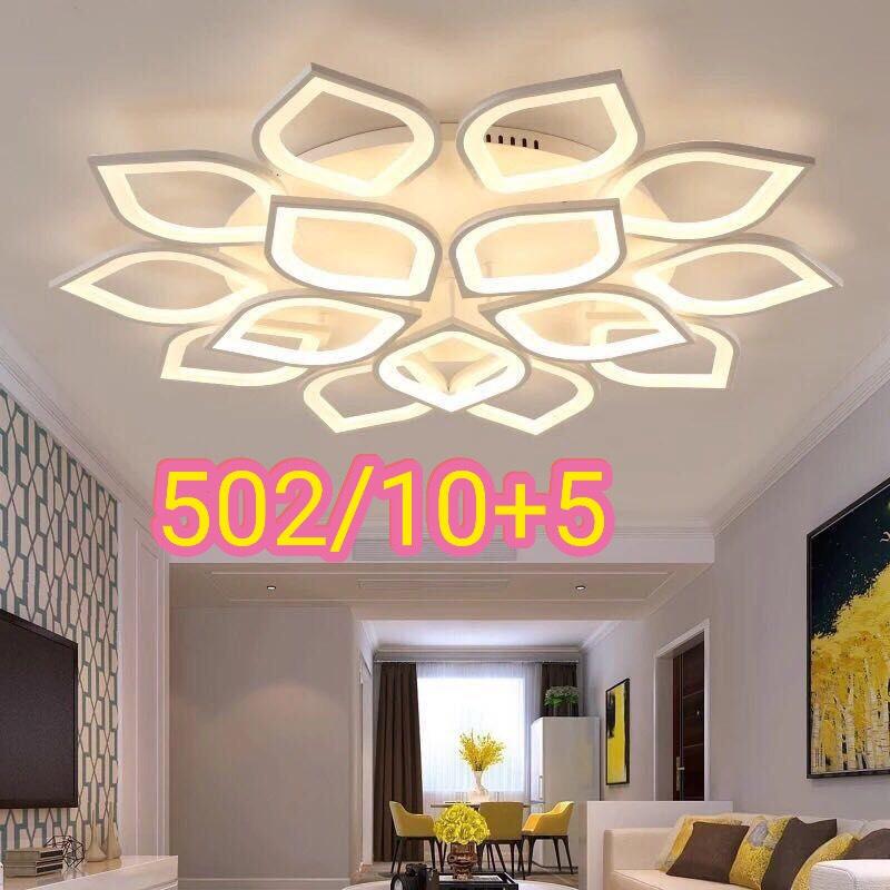 Đèn led ốp trần trang trí – 502/10+5 (15 Cánh Sen)
